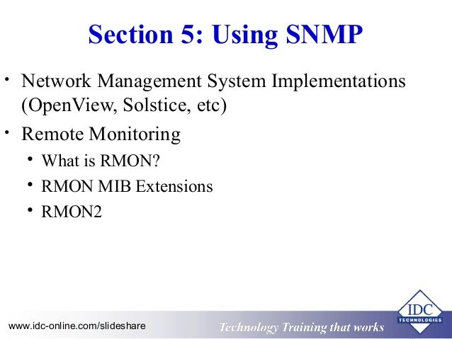 SNMP Network Management the Essentials