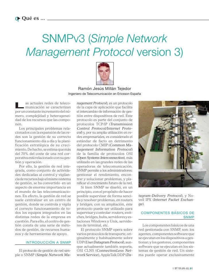 q Qué es ...u         SNMPv3 (Simple Network       Management Protocol version 3)                                         ...