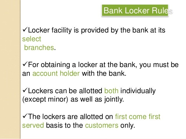 banks lockers customers కోసం చిత్ర ఫలితం