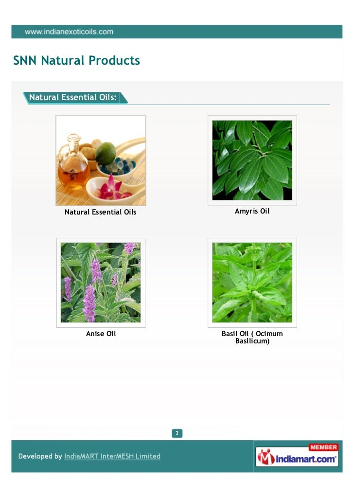 SNN Natural Products, New Delhi, Natural Essential Oils Slide 3