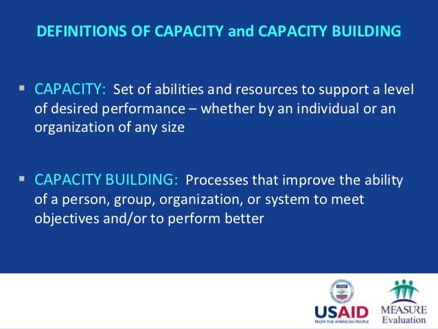 Self-Assessment of Organizational Capacity in Monitoring & Evaluation Slide 3