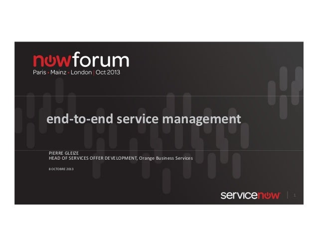 end-to-end service management avec ServiceNow (français)