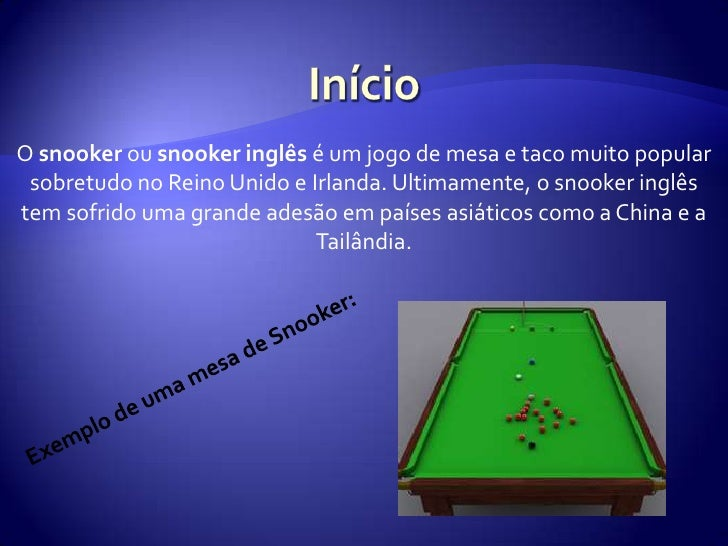 Regras de snooker