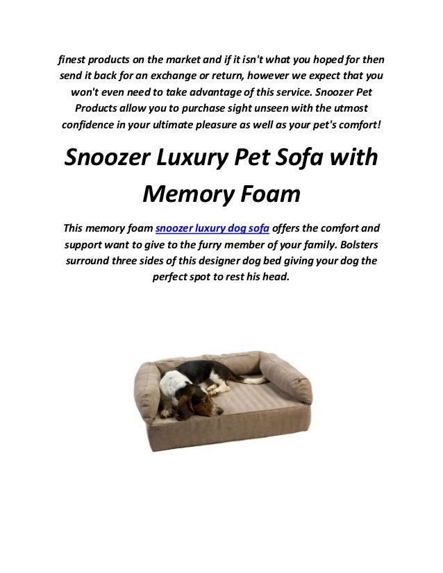 Stupendous Snoozer Pet Beds Luxury Dog Sofa Download Free Architecture Designs Fluibritishbridgeorg