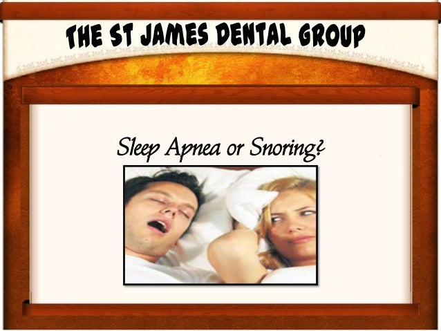 Sleep Apnea or Snoring?