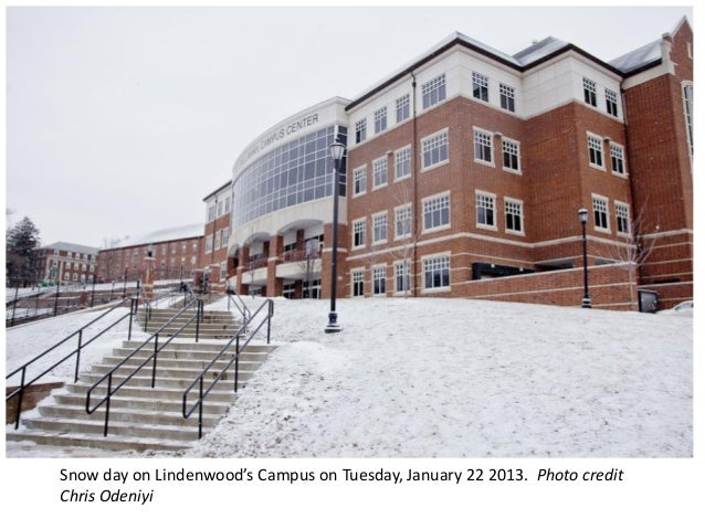 Snow day on Lindenwood's Campus on Tuesday, January 22 2013. Photo creditChris Odeniyi