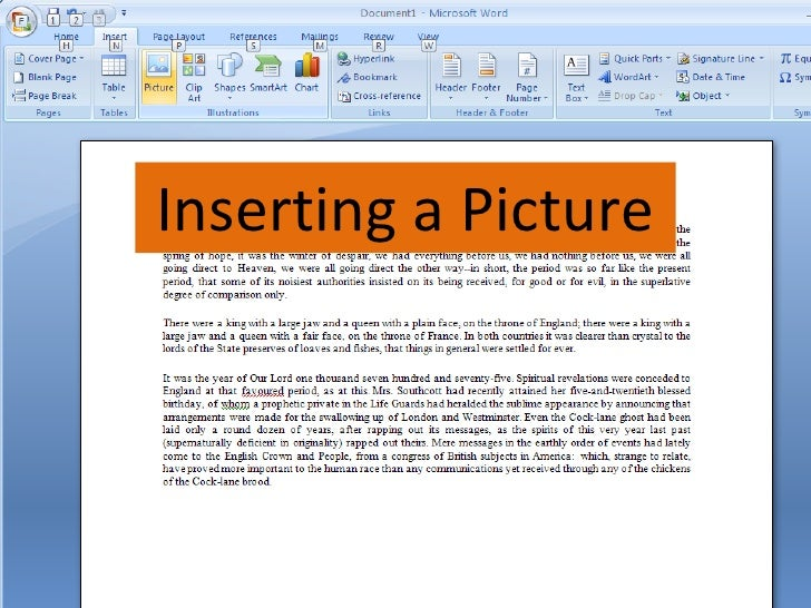 Inserting a Picture