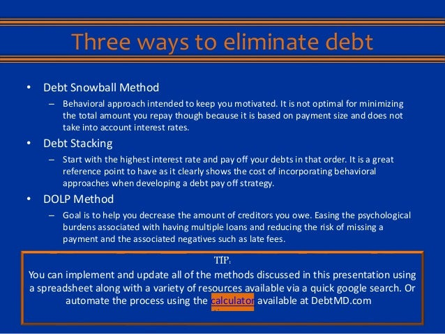 the snowball effect  how to eliminate your debts while