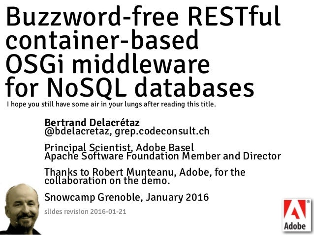 Buzzword-free RESTful