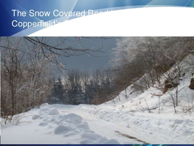The Snow Covered Road to the Copperfield's Bead Ho Down