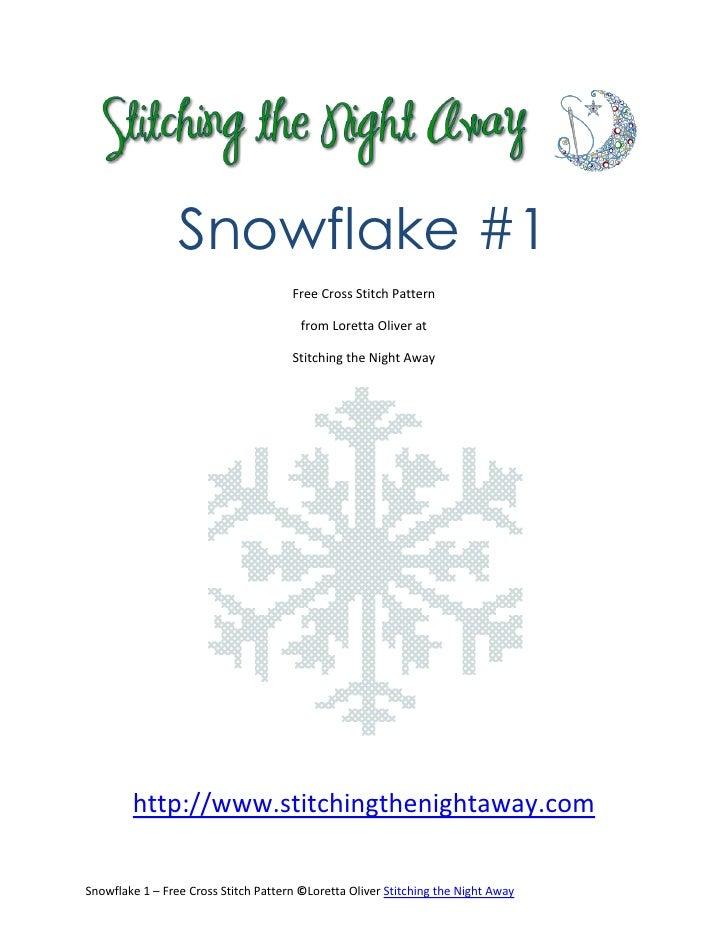 Snowflake #1                                      Free Cross Stitch Pattern                                        from Lo...