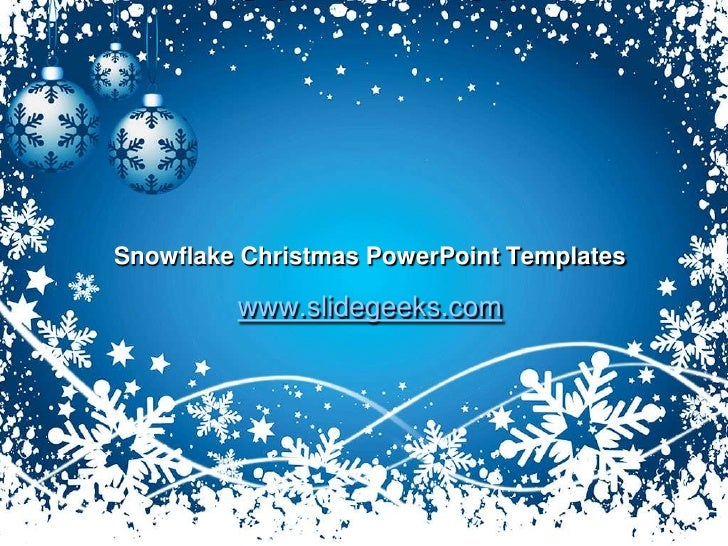 Snowflake Christmas Power Point Templates