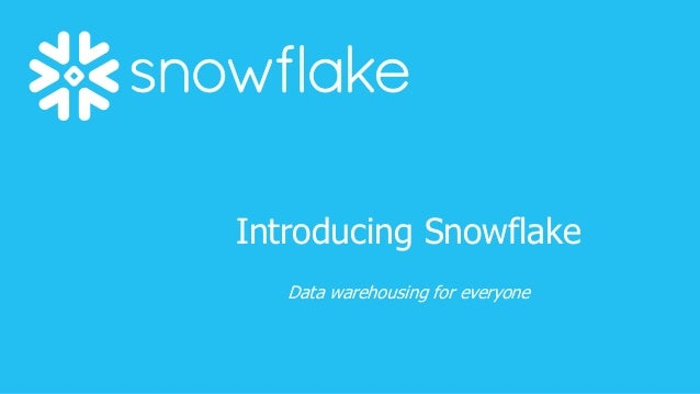 introducing the snowflake computing cloud data warehouse