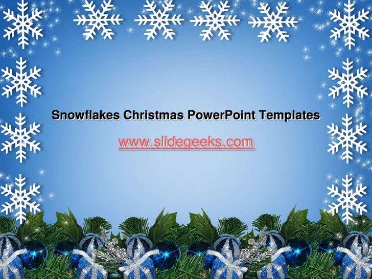snowflakes christmas power point templates