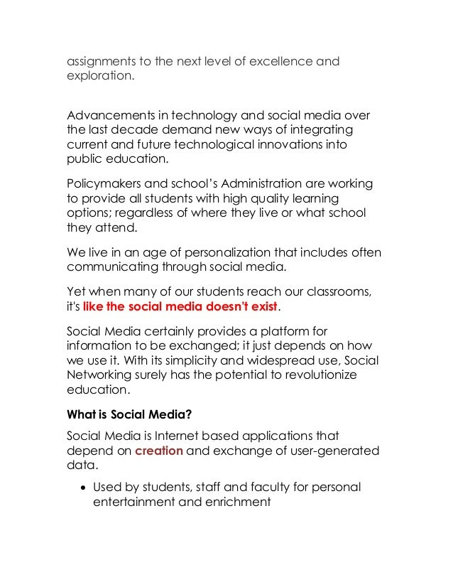 Incorporate Digital Photography And Social Media Into The Curriculum
