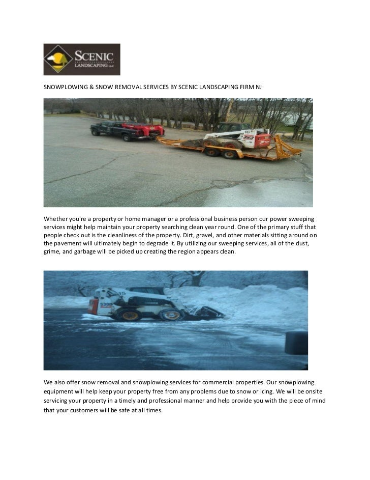 SNOWPLOWING & SNOW REMOVAL SERVICES BY SCENIC LANDSCAPING FIRM NJWhether youre a property or home manager or a professiona...