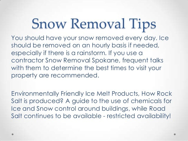 snow removal spokane