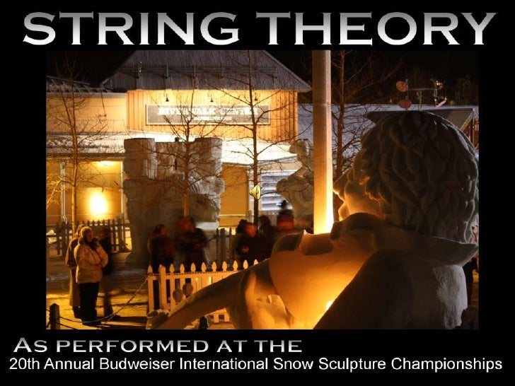STRING THEORY<br />STRING THEORY<br />STRING THEORY<br />STRING THEORY<br />STRING THEORY<br />As performed at the <br />A...