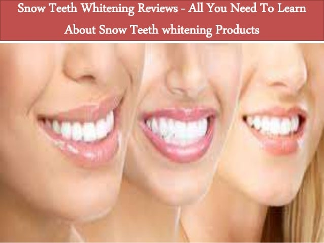 Kit  Snow Teeth Whitening Colors Review