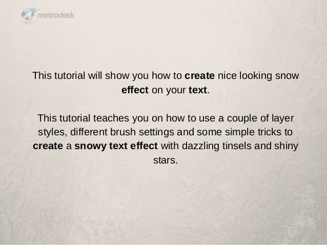 How to Create a Snowy Text Effect in Photoshop