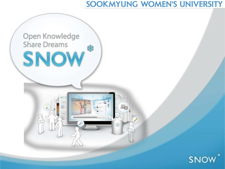 What is SNOW?Sookmyung              OER Project byNetwork for   SookmyungOpen          Women's              UniversityWorld