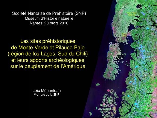 Les sites préhistoriques de Monte Verde et Pilauco Bajo (région de los Lagos, Sud du Chili) et leurs apports archéologique...