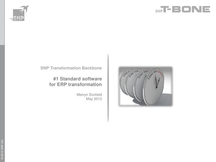 SNP Transformation Backbone                     #1 Standard software                   for ERP transformation             ...