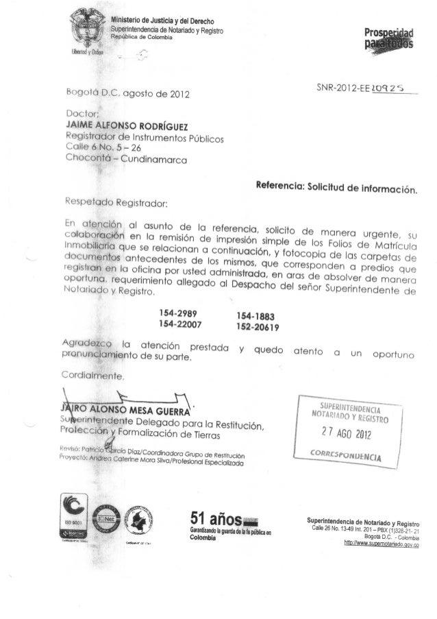 j£ Ministerio de Justicia y del Derechoí Superintendencia de Notariado y RegistroRepública de ColombiaBogotá D.C, agosto d...