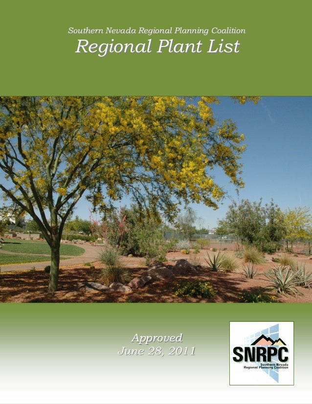 1    Southern Nevada Regional Planning Coalition        Regional Plant List                 Southern Nevada Regional Plann...