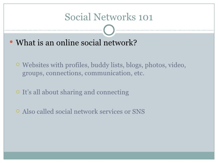 The pros and cons of social networks for Cons 101