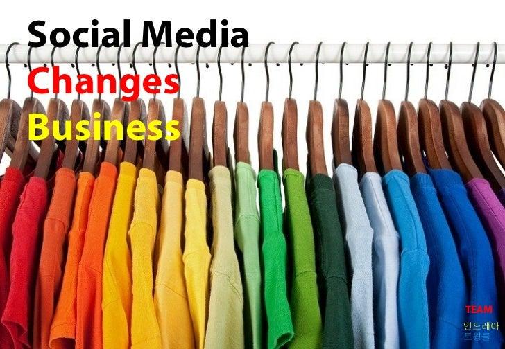 Social MediaChangesBusiness               TEAM               안드레아               트윙클