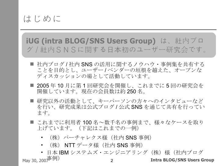 社内ブログ/社内SNS失敗学 Slide 2