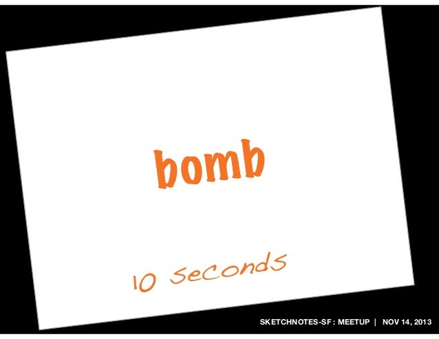 mb bo onds sec 10 SKETCHNOTES-SF : MEETUP   NOV 14, 2013