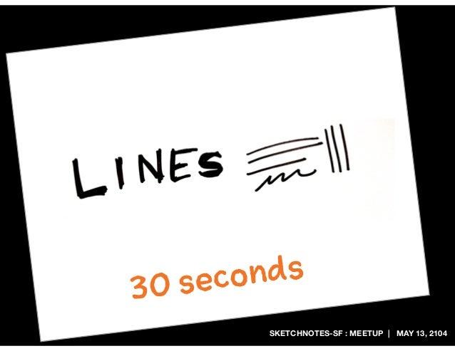 SKETCHNOTES-SF : MEETUP | MAY 13, 2104 30 seconds