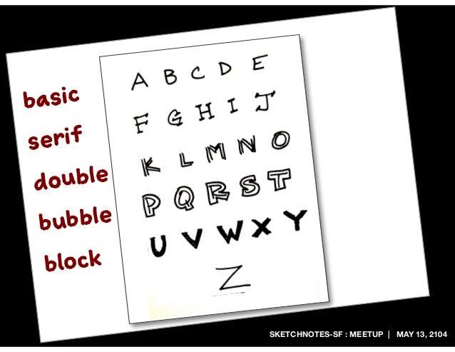 SKETCHNOTES-SF : MEETUP | MAY 13, 2104 basic serif double bubble block