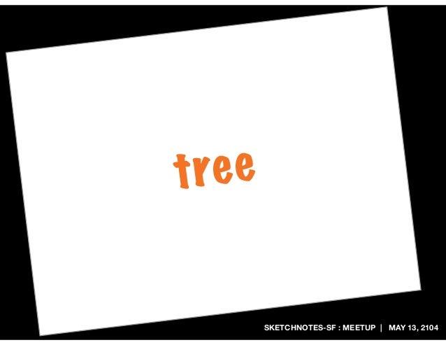SKETCHNOTES-SF : MEETUP | MAY 13, 2104 tree