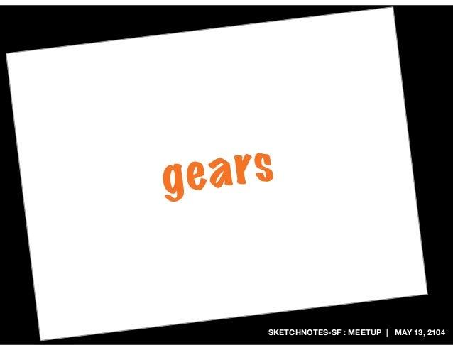 SKETCHNOTES-SF : MEETUP | MAY 13, 2104 gears
