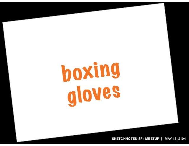 SKETCHNOTES-SF : MEETUP | MAY 13, 2104 boxing gloves