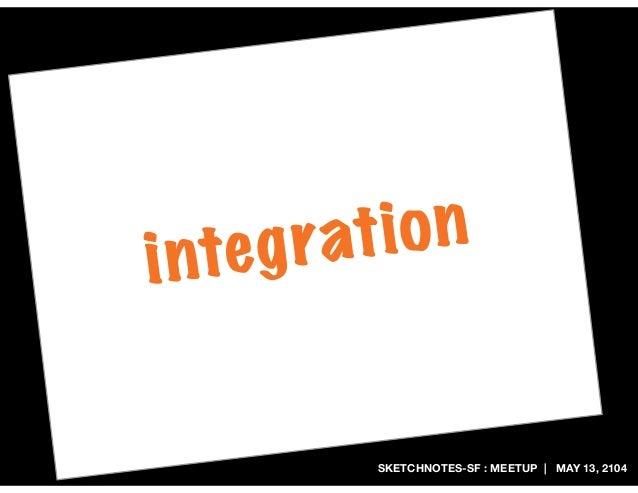 SKETCHNOTES-SF : MEETUP | MAY 13, 2104 integration