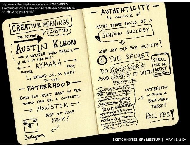 SKETCHNOTES-SF : MEETUP | MAY 13, 2104 http://www.thegraphicrecorder.com/2013/08/12/ sketchnotes-of-austin-kleons-creative...
