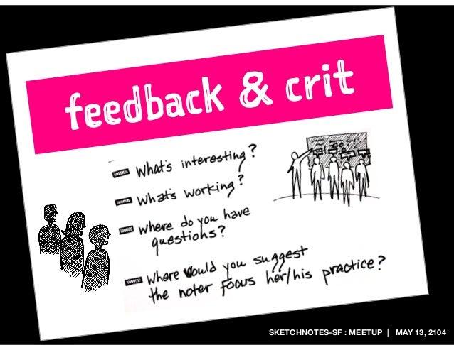 SKETCHNOTES-SF : MEETUP | MAY 13, 2104 feedback & crit