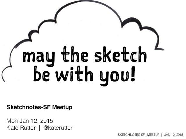 Sketchnotes-SF Meetup :: Round 14 [Mon Jan 12, 2015]