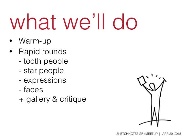Sketchnotes-SF Meetup :: Round 17 :: People & Faces [Wed Apr 29, 2015] Slide 3