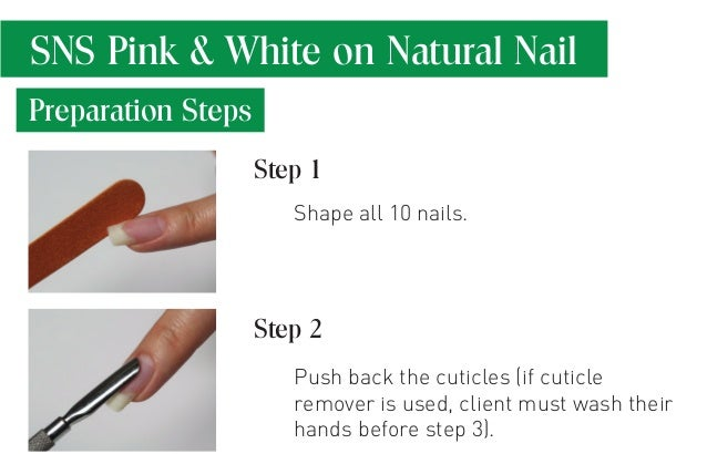 how to apply sns nails
