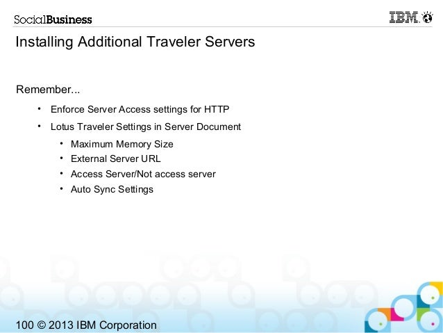 Show100 Making Ibm Notes Traveler Highly Available