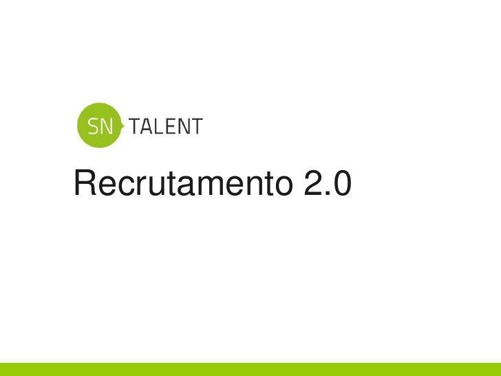 Recrutamento 2.0