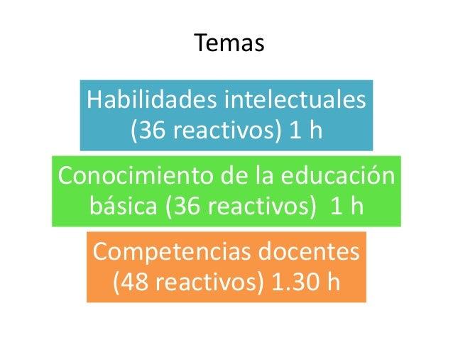 Examen de ingreso a la docencia (SEP) Slide 3