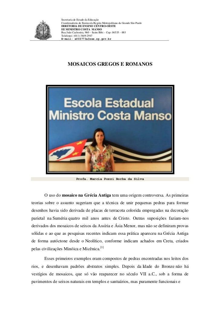 Secretaria de Estado da Educação                Coordenadoria de Ensino da Região Metropolitana da Grande São Paulo       ...