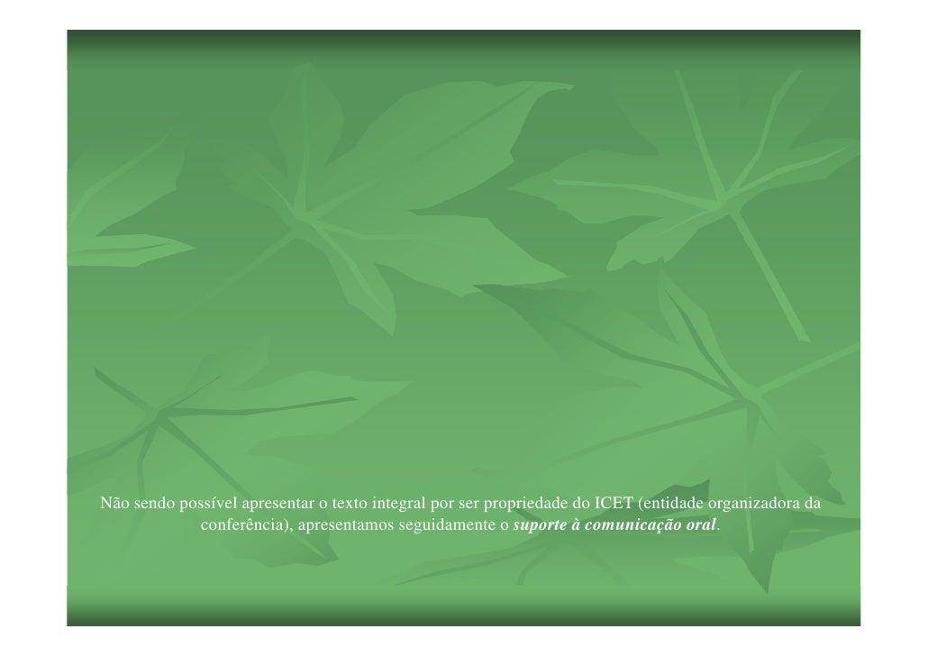 Não sendo possível apresentar o texto integral por ser propriedade do ICET (entidade organizadora da              conferên...