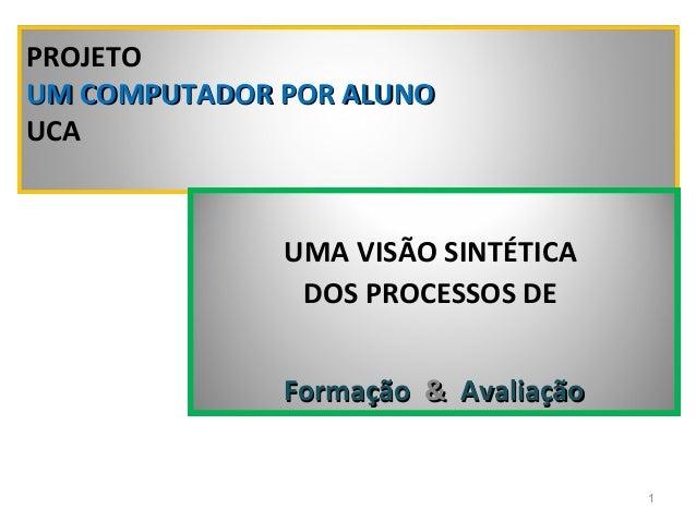 PROJETOUM COMPUTADOR POR ALUNOUCA              UMA VISÃO SINTÉTICA               DOS PROCESSOS DE              Formação & ...